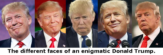 Different Faces Of Donald Trump